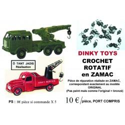 Crochet Rotatif en ZAMAC