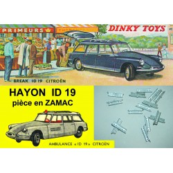 EBAUCHE HAYON INFERIEUR DS 19 Break DINKY TOYS