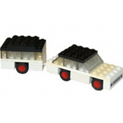 AUTO + CARAVANE LEGO Référence 623