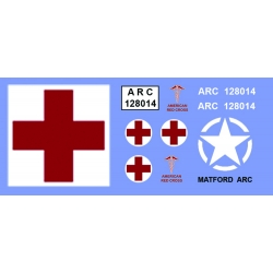 DECALQUE AMERICAN RED CROSS - CODE 3